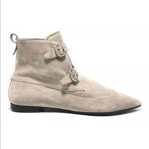 "All Saints Sepia Pink Suede ""Viv"" Ankle Boots"